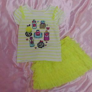 The Children's Place shirt & skirt set